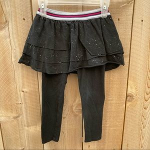 Cat & Jack size XS 4/5 leggings with skirt